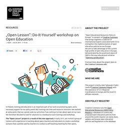 """Open Lesson"": Do-It-Yourself workshop on Open Education"