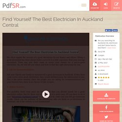 Find Yourself The Best Electrician In Auckland Central
