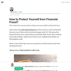 How to Protect Yourself from Financial Fraud?