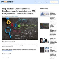 Help Yourself Choose Between Freelancers and a Marketing and SEO Company Gold Coast and Canberra