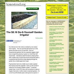 """The $8.16 Do-It-Yourself Garden Irrigator"" by Bruce Andis"