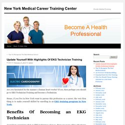 Are you looking for a promising career as a EKG Technician?