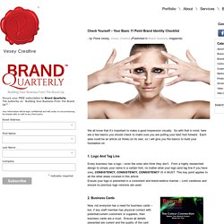 Check Yourself – Your Basic 11 Point Brand Identity Checklist