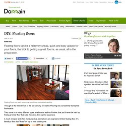 do it yourself installation of floating timber floors