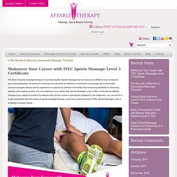Makeover Your Career with ITEC Sports Massage Level 3 Certificate