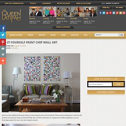 Do-It-Yourself Paint Chip Wall Art