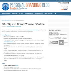 50+ Tips to Brand Yourself Online