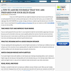 5 tips to assure yourself that you are prepared for your ielts exam