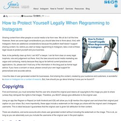 How to Protect Yourself Legally When Regramming to Instagram