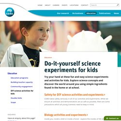 Do-it-yourself science experiments for kids