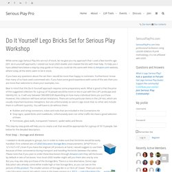 Do It Yourself Lego Bricks Set for Serious Play Workshop – Serious Play Pro