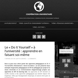 Le « Do It Yourself » à l'université : apprendre en faisant soi-même