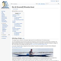Do-It-Yourself/Wooden boat