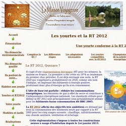 Yourtes et RT 2012