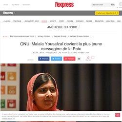 ONU: Malala Yousafzaï devient la plus jeune messagère de la Paix