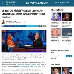Malala Yousafzai Left Jon Stewart Speechless