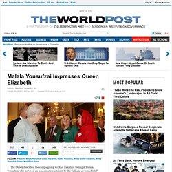 Malala Yousufzai Impresses Queen Elizabeth