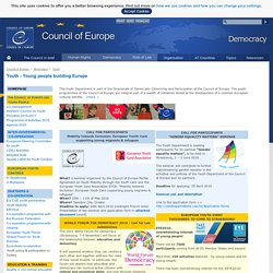 Youth - Council of Europe