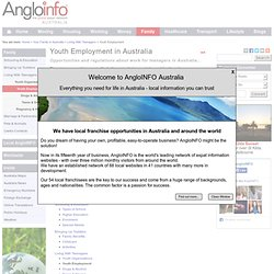 Youth Employment in Australia