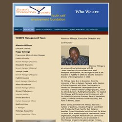 Youth Self Employment Foundation - Who We Are