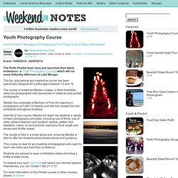 Youth Photography Course - Perth