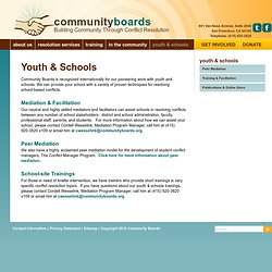 Community Boards - Youth & Schools