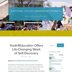 Youth4Education Offers Life-Changing Week of Self-Discovery