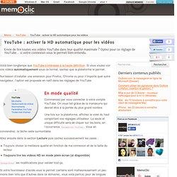 YouTube : activer la HD automatique pour les vidéos