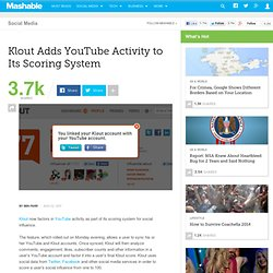 YouTube Users: Klout Is Here
