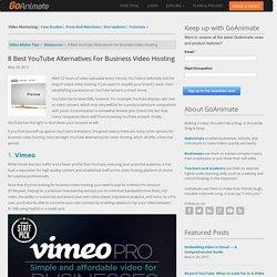 8 Best YouTube Alternatives for Business Video Hosting