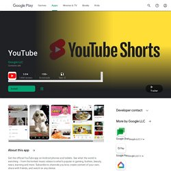 YouTube - Google Apps sur l'Android Market