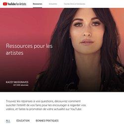 YouTube pour les artistes - Ressources pour les artistes