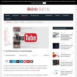 YouTube bientôt en material design.