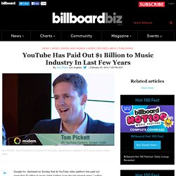 YouTube Has Paid Out $1 Billion to Music Industry In Last Few Years