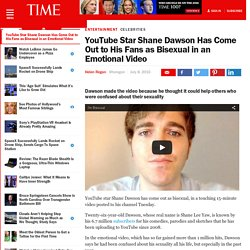 YouTube Star Shane Dawson Has Come Out to His Fans as Bisexual in an Emotional Video