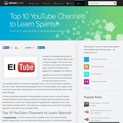 Top 10 YouTube Channels to Learn Spanish