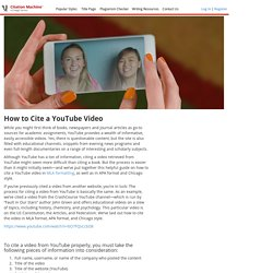 Citing video-citationmachine