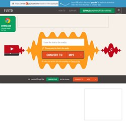 YouTube to MP3 - Convert YouTube videos to MP3