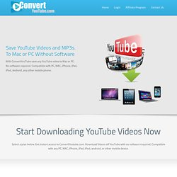 Online Youtube Converter - Convert Online flv Youtube Videos direct to PC, iPod, PSP, iPhone, mp3, mp4 and Mobile.