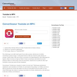 Youtube MP4 - Convertisseur Youtube en MP4 gratuit en ligne