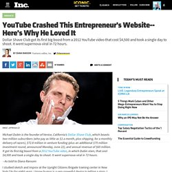 YouTube Crashed This Entrepreneur's Website