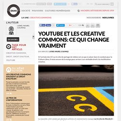 YouTube et les Creative Commons: ce qui change vraiment