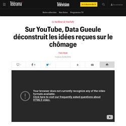 Sur YouTube, Data Gueule déconstruit les idées reçues sur le chômage - Télévision