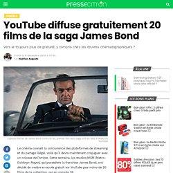 YouTube diffuse gratuitement 20 films de la saga James Bond