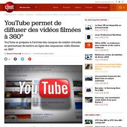 YouTube permet de diffuser des vidéos filmées à 360°