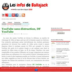 YouTube sans distraction, DF YouTube