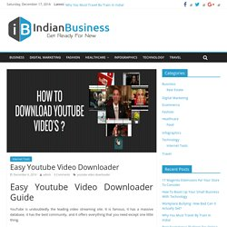 Easy Youtube Video Downloader - Indian Business