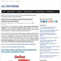 10 Free Best online youtube Downloader for Download youTube Videos