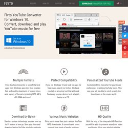 YouTube Downloader for Windows 10 by Flvto