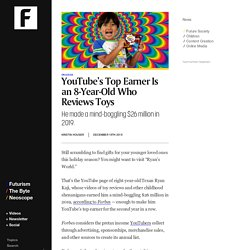 YouTube's Top Earner Is an 8-Year-Old Who Reviews Toys